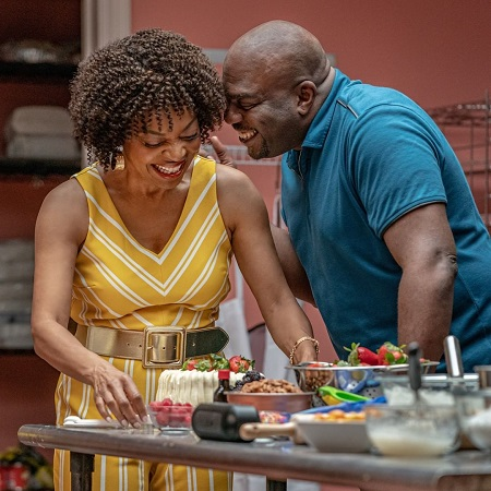 Tina Lifford with her Omar Dorsey in the Queen Sugar