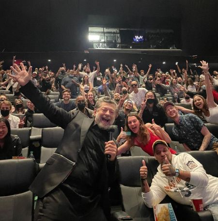 Andy Serkis the Director of Venom 2 at the premier