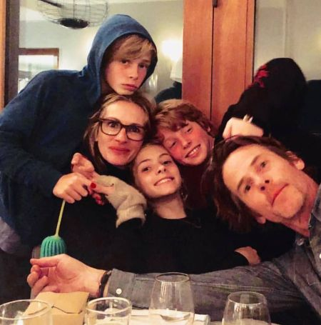Hazel Moder with her family