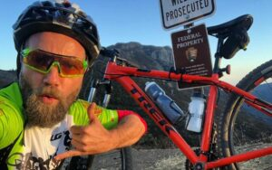 Marcel Vigneron was on a trip on his cycle